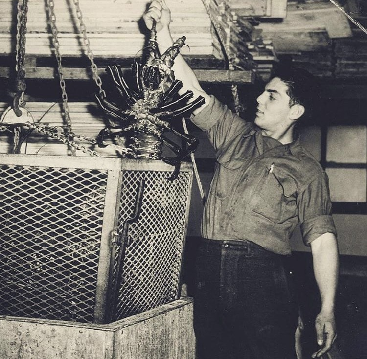 Uncle Frank holding a lobster